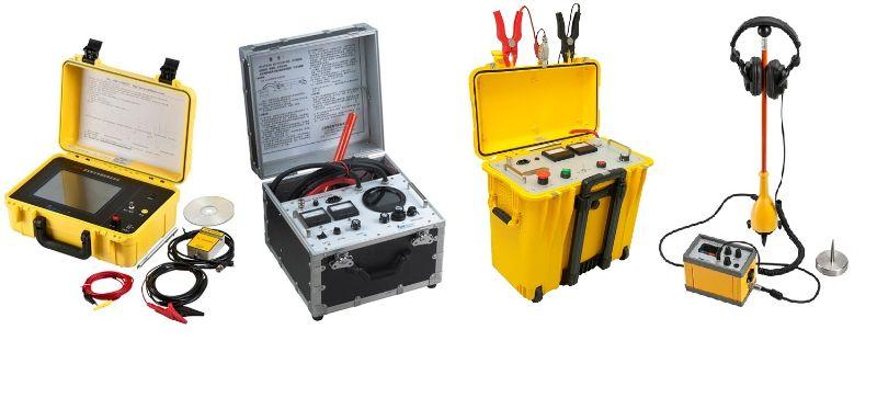 面向配网及中低压用户,适用于35kV及以下电压等级电缆故障定位。设备电压高、重量轻、体积小、携带方便、操作简单,适用于中小型用电部门及电缆施工单位。 包括四件经典仪器,各自主要功能如下: GZD-400B电缆故障定位高压电桥(预定位:Murray高压电桥法) HDTDR-200波反射法电缆故障定位仪(预定位:低压脉冲反射法、配合HDM-15/8E脉冲电流法) HDM-15/8E电缆故障定位电源(直流耐压试验;预定位:配合HDTDR-200脉冲电流法;精定位:输出高压脉冲,配合HDL-1B声磁定点) HDL